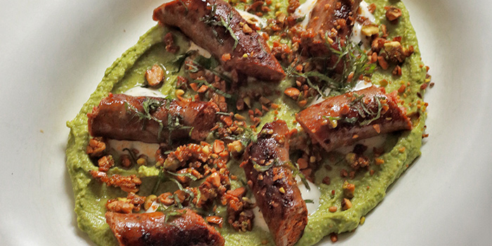 Our Green Pea Hummus from The Butcher