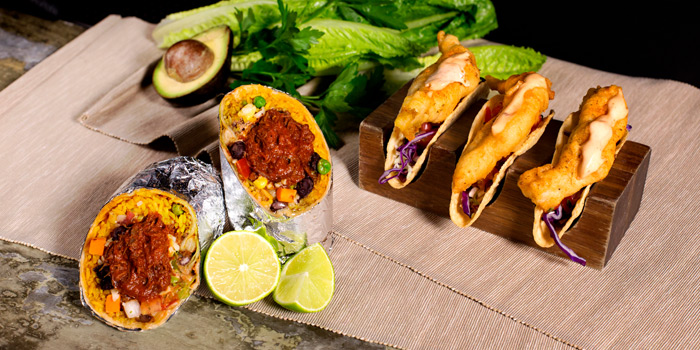 Buritos & Tacos from Cali-Mex Bar and Grill at Holiday Inn Sukhumvit Hotel Ground Floor, 999/34, Sukhumvit Rd. Khlong Tan, Khlong Toei Bangkok