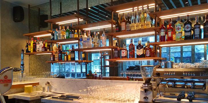 Bar Area of Blend Bistro & Wine Bar Asoke at Somerset Asoke Maison No.84 Sukhumvit Soi 23 Bangkok