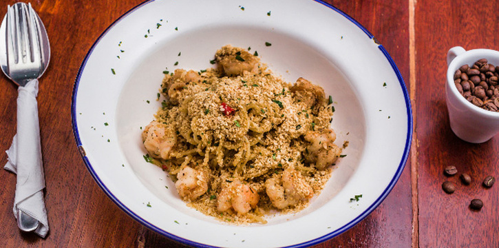 Cereal Prawn Pasta from Columbus Coffee Co. in Thomson, Singapore