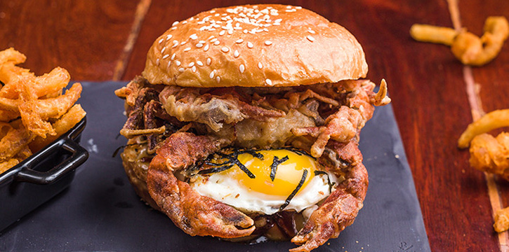 Soft Shell Crab Burger from Columbus Coffee Co. in Thomson, Singapore
