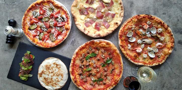 Pizza Selection from Blend Bistro & Wine Bar Asoke at Somerset Asoke Maison No.84 Sukhumvit Soi 23 Bangkok