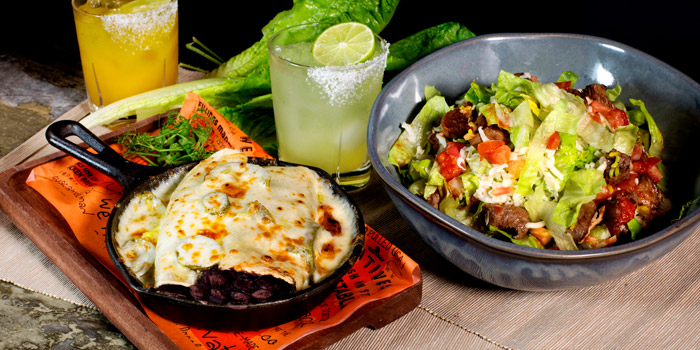 Enchilada & Salad from Cali-Mex Bar and Grill at Holiday Inn Sukhumvit Hotel Ground Floor, 999/34, Sukhumvit Rd. Khlong Tan, Khlong Toei Bangkok