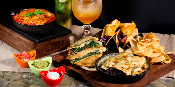 Signature Dishes from Cali-Mex Bar and Grill at Holiday Inn Sukhumvit Hotel Ground Floor, 999/34, Sukhumvit Rd. Khlong Tan, Khlong Toei Bangkok