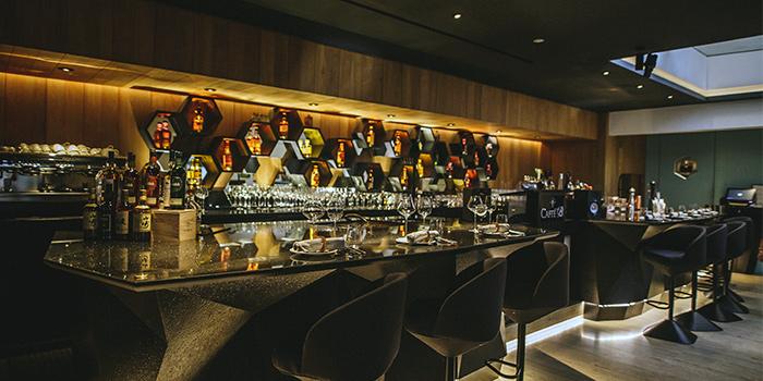 Bar of Caffé B at Club Street, Singapore