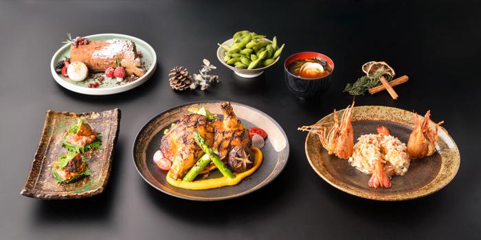 Christmas Lunch Chicken Menu, CÉ LA VI Restaurant Hong Kong, Lan Kwai Fong, Hong Kong