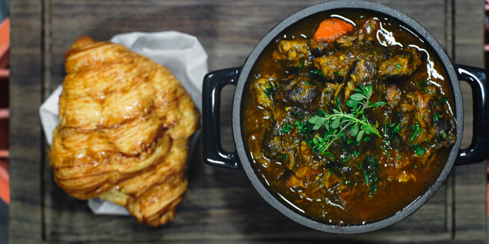 Classic Beef Stew & Croissant from Mellow Restaurant & Bar at Penny