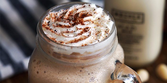 Coffee with Whipped Cream from Oriole Coffee + Bar at Pan Pacific Serviced Suites in Orchard, Singapore