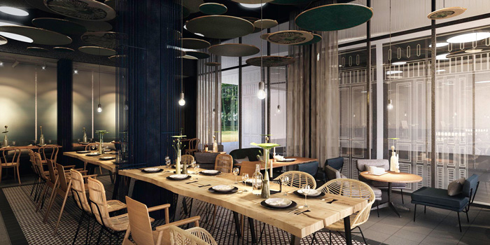 Dining Area of By Bua Lasalle at Lasalle