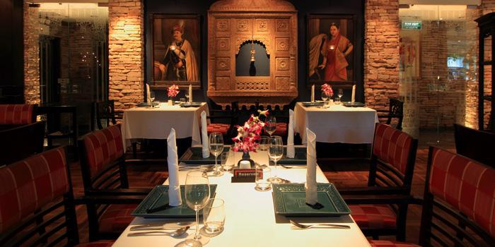 Dining Area of Indus Contemporary Indian Dining in Upper Sukhumvit, Bangkok