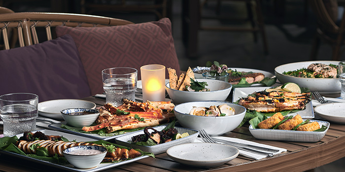 Food Spread from Summerlong at The Quayside in Robertson Quay, Singapore