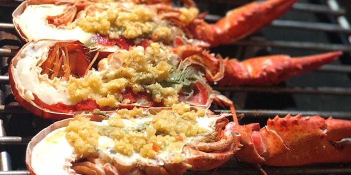 Grilled Boston Lobster from The Three Peacocks in Telok Blangah, Singapore