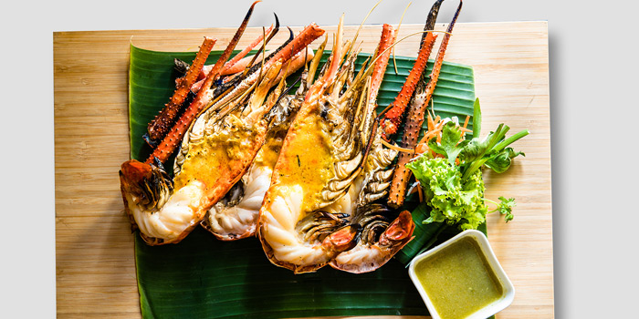 Grilled Giant River Prawn from By Bua Lasalle at Lasalle