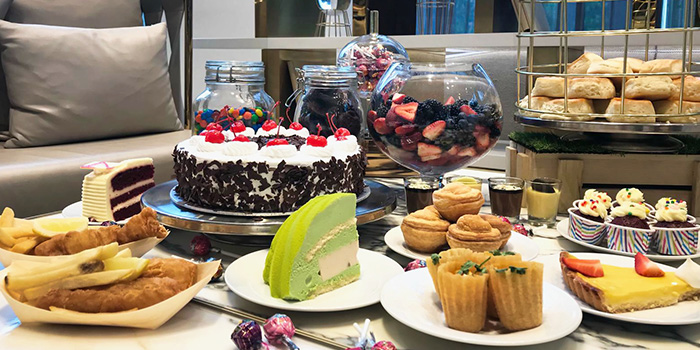 High Tea Food Spread from Food Exchange at Novotel Singapore on Stevens in Tanglin, Singapore