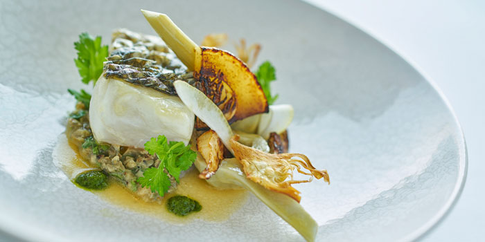 Line-caught Sea Bass, Rech by Alain Ducasse, Tsim Sha Tsui, Hong Kong