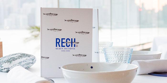 Menu, Rech by Alain Ducasse, Tsim Sha Tsui, Hong Kong