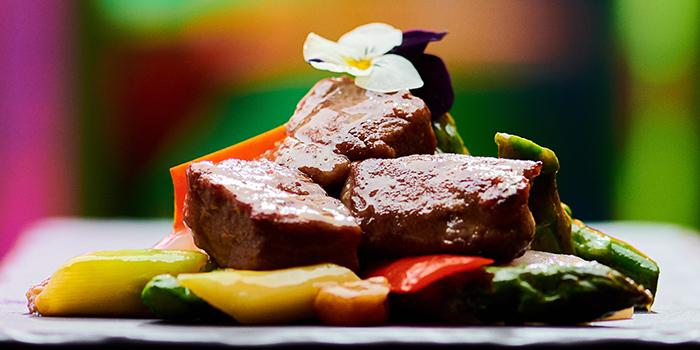 Stir Fried Wagyu from Mitzo Restaurant & Bar in Grand Park Orchard along Orchard Road, Singapore