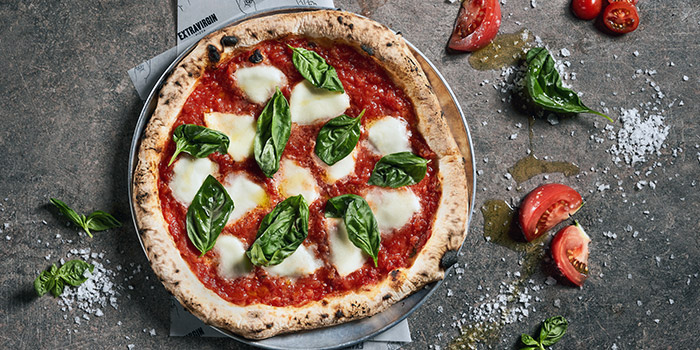 Bufala Margherita from Extra Virgin Pizza (Asia Square) in Raffles Place, Singapore