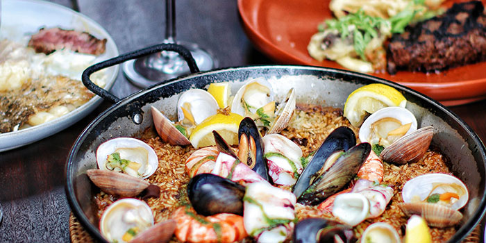 Paella from El Kabron Spanish Restaurant & Cliff Club in Jimbaran, Bali