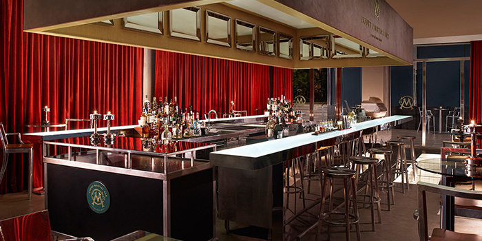 Interior of Court Martial Bar in JW Marriott Hotel Singapore South Beach in City Hall, Singapore
