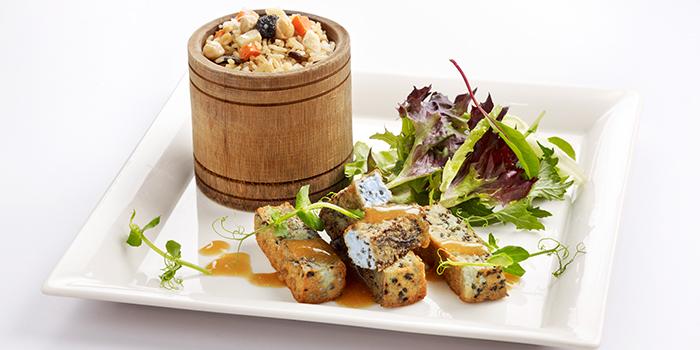 Blue Flower Tofu with Black Truffle Wild Rice from Elemen @ Millenia Walk in Promenade, Singapore