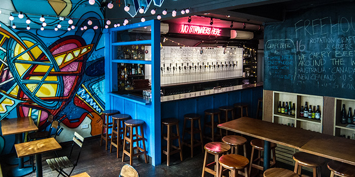 Interior of Freehouse in Raffles Place, Singapore