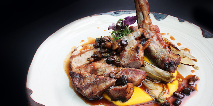 Josper Grill Pork Chops from Grissini at Grand Copthorne Waterfront Hotel in Robertson Quay, Singapore