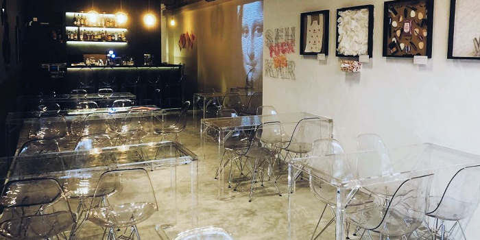 Interior of HE Bistro and Bar in Duxton, Singapore