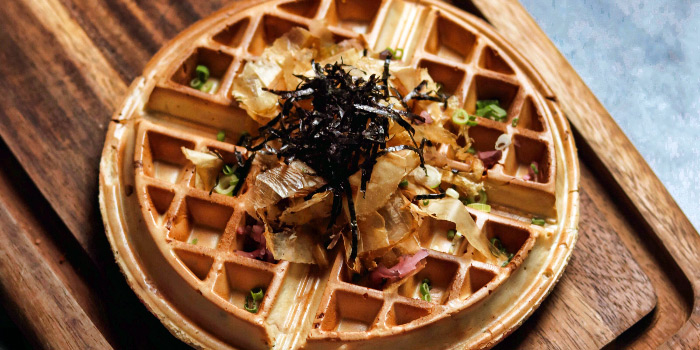 Seafood Waffles from Kindori at Chijmes in City Hall, Singapore