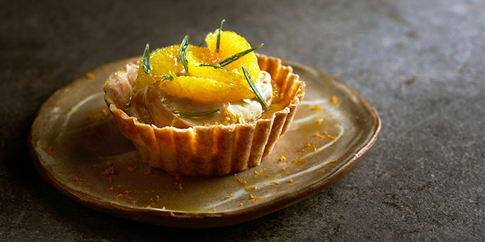 Burnt White Chocolate, Rosemary and Orange Tart from Le Bon Funk in Club Street, Singapore