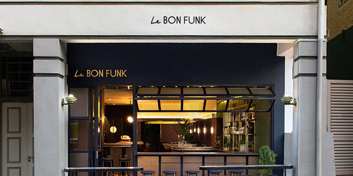 Facade of Le Bon Funk in Club Street, Singapore from Le Bon Funk in Club Street, Singapore