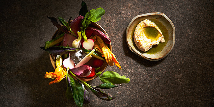 Vegetable Crudités and Whipped Roe from Le Bon Funk in Club Street, Singapore
