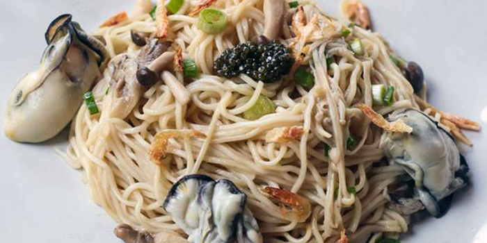 Chilled Truffle Caviar & Oyster La Mian from Mister Wu at Nankin Row in Chinatown, Singapore