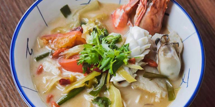 Hibiki Whisky Seafood Soup La Mian from Mister Wu at Nankin Row in Chinatown, Singapore