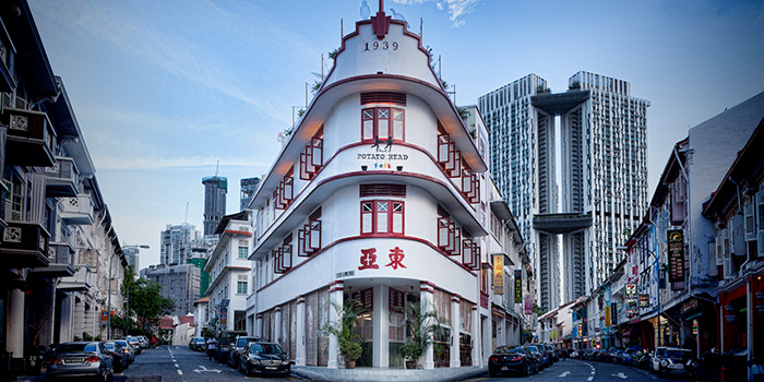 Exterior of Potato Head Singapore on Keong Saik Road in Chinatown, Singapore