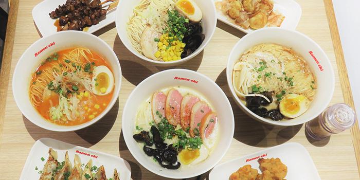 Food Spread from Ramen Eki in Yishun, Singapore