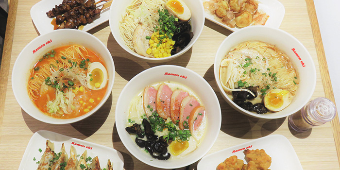 Food Spread from Ramen Eki in Yishun, Singapore