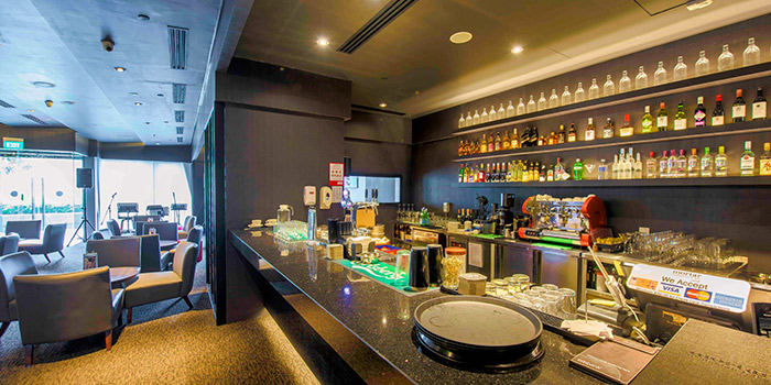 Bar Counter of Revel Bistro & Bar at Marina Square in City Hall, Singapore