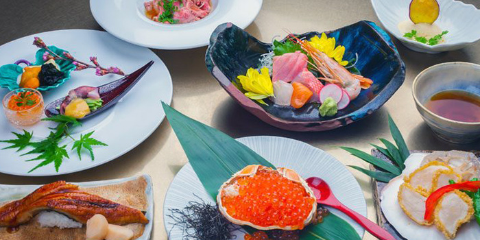 Food Spread from Shun by Shunsui at Cuppage Plaza in Dhoby Ghaut, Singapore