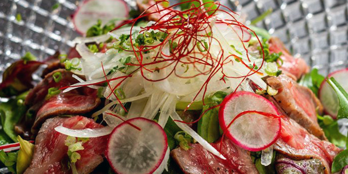 Wagyu Salad from Izakaya SHUN at Cuppage Plaza in Dhoby Ghaut, Singapore