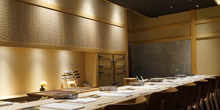 Dining Room of Sushi Ayumu in Orchard, Singapore