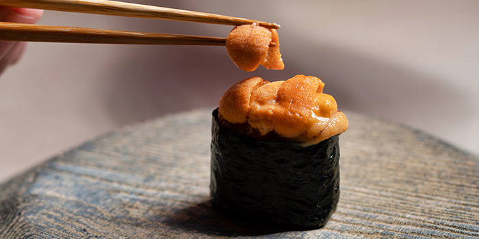 Uni Gunkan from Sushi Ayumu in Orchard, Singapore