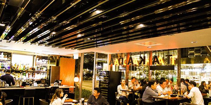 Interior of Takada Grill & Bar in Tanjong Pagar, Singapore