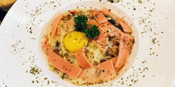 Carbonara from The Lazy Garden Cafe in City Square Mall in Little India, Singapore