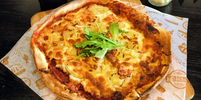 Hawaiian Pizza from The Lazy Garden Cafe in City Square Mall in Little India, Singapore