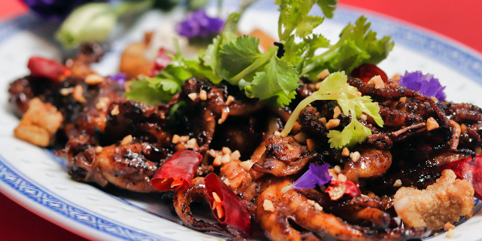 Kung Pow Octopus from Zui Hong Lou on Club Street in Tanjong Pagar, Singapore