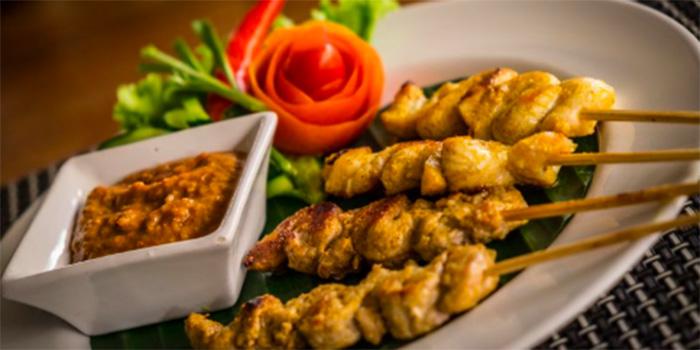 Satay from Lemongrass Thai Restaurant, Legian, Bali