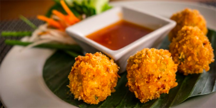 Prawn Balls from Lemongrass Thai Restaurant, Legian, Bali