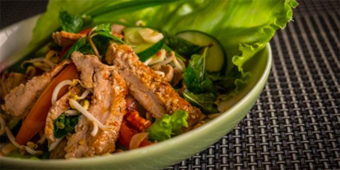 Beef Salad Special from Lemongrass Thai Restaurant, Legian, Bali
