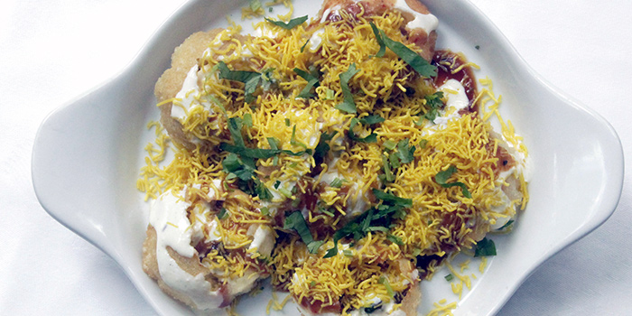 Sev Puri, Dahi Puri from from Table Restaurant and Bar in Seah Street, Singapore